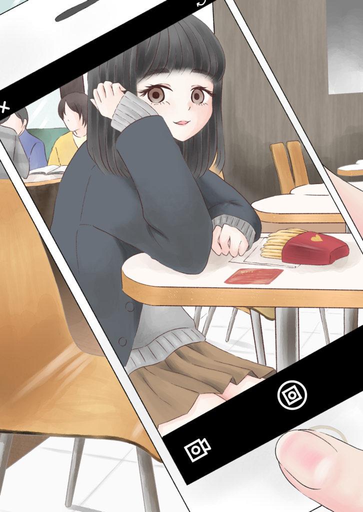 隣の席の女子高生